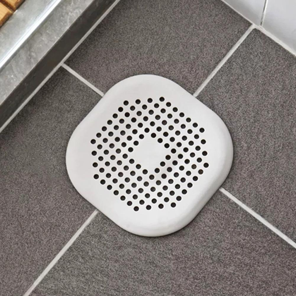 1 Pcs Grey White Shower Drain Covers Silicone Tube Stopper With Sucker For Bathroom Kitchen Sink Strainer Home Drain Protectors