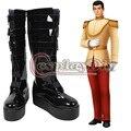 Cinderella prince cosplay encanto de arranque de los hombres adultos de halloween cosplay zapatos hechos a medida