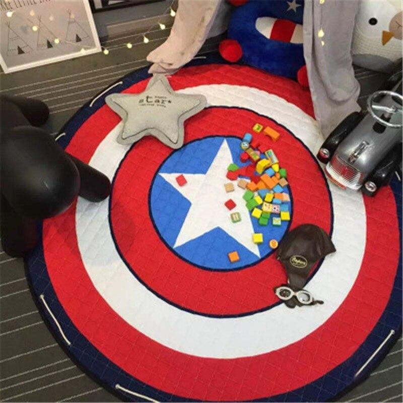 1 pc 150x150 cm bébé tapis de jeu pour les nouveau-nés tapis de bande dessinée enfants tapis tapis filles garçons jouets ramper tapis