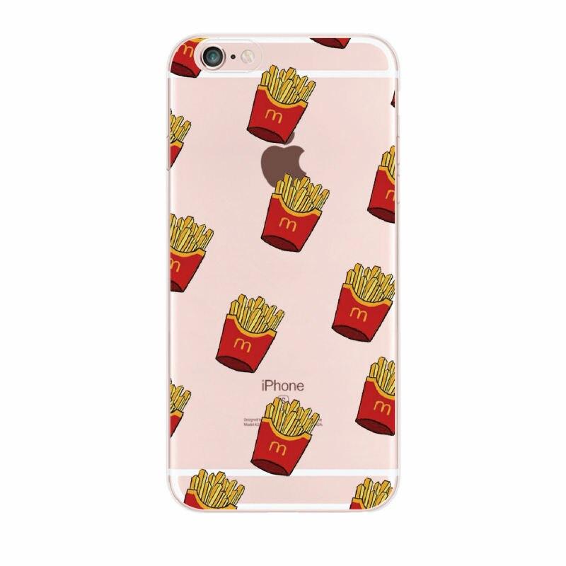 Fruit lemon cherry pineapple starbucks frech fries macaron donuts iphone case-21