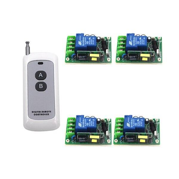 Livraison gratuite AC85V-250 V 30A 3000 W RF télécommande sans fil interrupteur lumière/LED/lampe application ON OFF interrupteur d'alimentation 4123