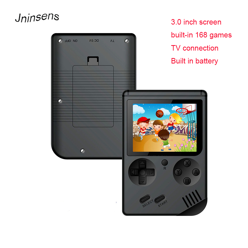 2018 New 3.0 Inch Retro Handheld Game Console Classic Hand Game Player TV Out with 168 Games for Kids Family