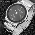 Mens relojes de primeras marcas de lujo reloj de cuarzo boamigo negocio de acero automático de relojes 2017 relojes de pulsera de regalo caliente relogio masculino
