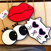 For IPhone 5 5s Se 5c 6 6s 6 6splus With Strap 3D Cute Big Eyes