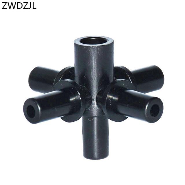 관개 5 방향 커넥터 6mm 크로스 워터 스플리터 가든 호스 분배기 5 웨이 분무 노즐 어댑터 10 pcs