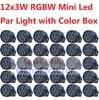 30xLot Hot Sales Mini LED Par Light 12x3W RGBW Flat Led Par Can Sound Active Disco