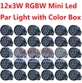 30xLot Hot Sales Mini LED Par Light 12x3W RGBW Flat Led Par Can Sound Active Disco DJ DMX KTV Party Nightclub Bar Stage Lighting