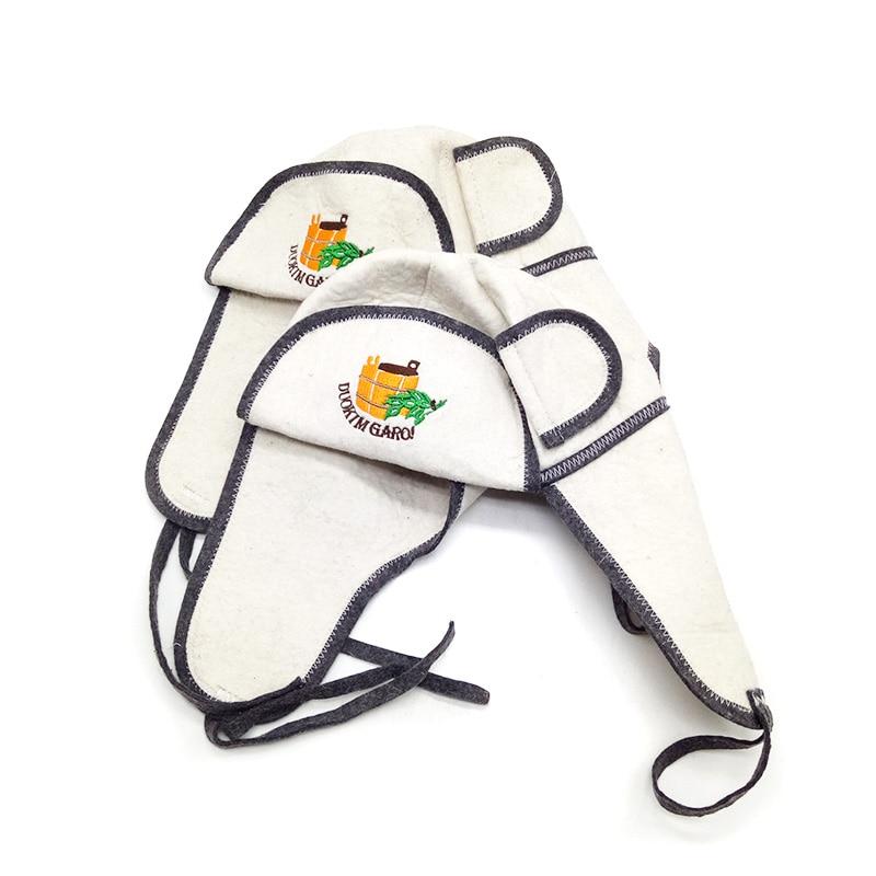 9efb1f0745d01 Sauna Hat Russian Banya Cap 100% Wool Felt Modern Lightweight Head  Protection for Men and Women