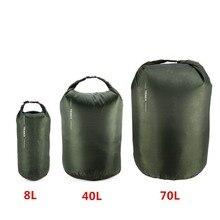 8л 40л 70Л Портативная сумка для плавания Водонепроницаемая сухая сумка для хранения Сумка для кемпинга пешего туризма плавания треккинга использования на лодках