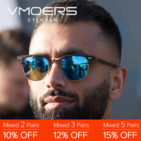 fa8ebe032fac1 VMOERS macho Semi montura Retro gafas de sol hombres polarizado de 100%  UV400 tonos Vintage