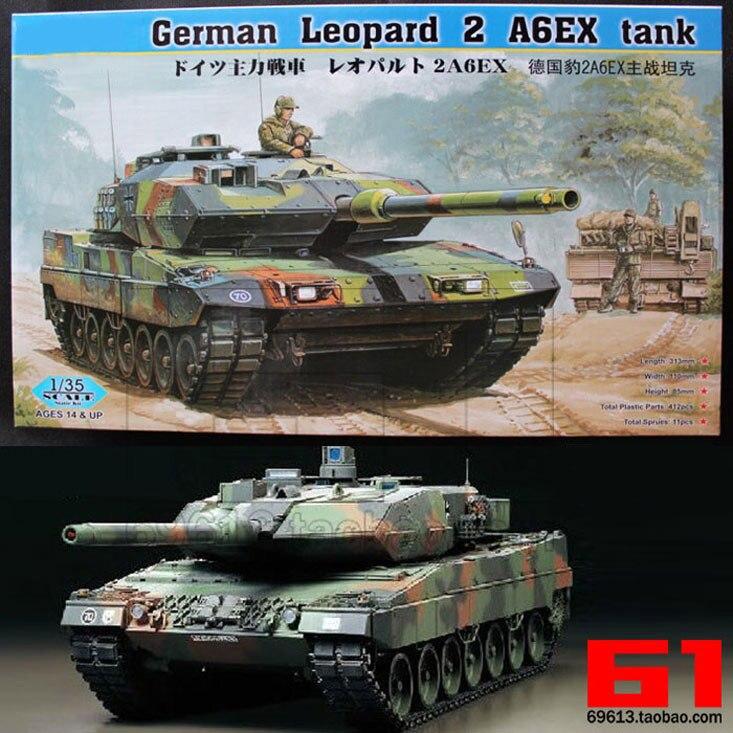 1:35 Scale German Leopard 2A6 Main Battle Tank DIY Plastic Assembling Model Toy fun child toy tank alloy simulation toy german main battle tank assembly model children intelligence education toy tank