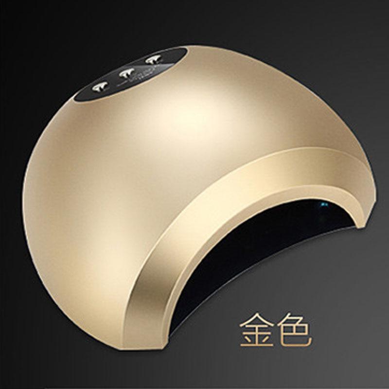 где купить 48W Nail Dryer Dual UV LED Nail Lamp Nail Dryer Gel Polish Curing Light with Bottom 10s/30s/60s Timer 405+365nm Auto Sensor по лучшей цене