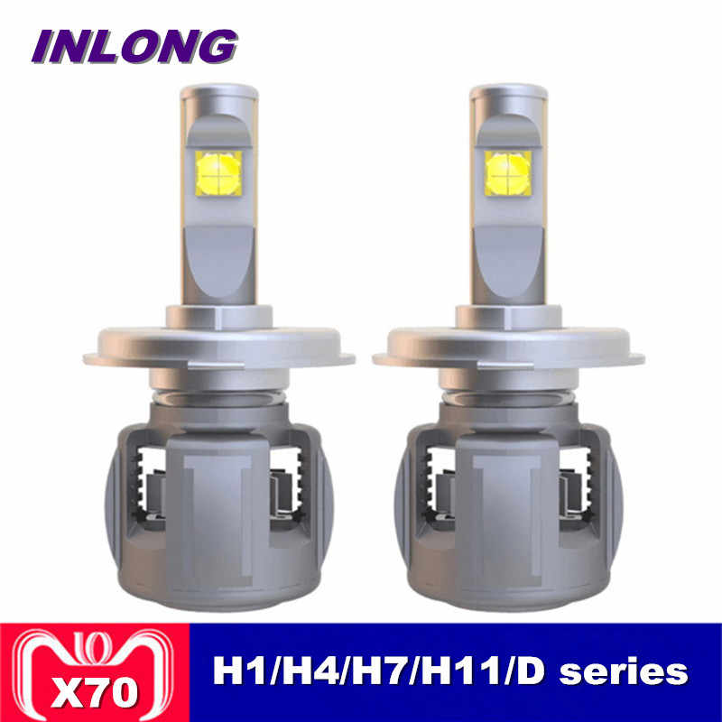 Inlong X70 H7 H1 9005 9006 H4 Car LED Headlight Bulb H11 H9 H8 D1S D2S D4S hp Led Lamp Chip 60W 7800LM Headlamp Fog Lights 6000K
