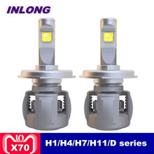 Inlong X70 H7 H1 9005 9006 H4 Car LED Headlight Bulb H11 H9 H8 D1S D2S D4S hp Led Lamp Chip 60W 7800LM Headlamp Fog Lights 6000K(China)