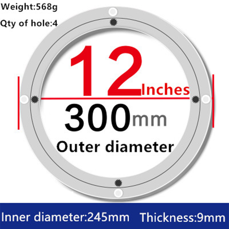 2pcs 12 inches 30cm Wholesale Lazy Susan Turntable Dining Table  Aluminium Alloy Swivel Plate for Kitchen Furniture