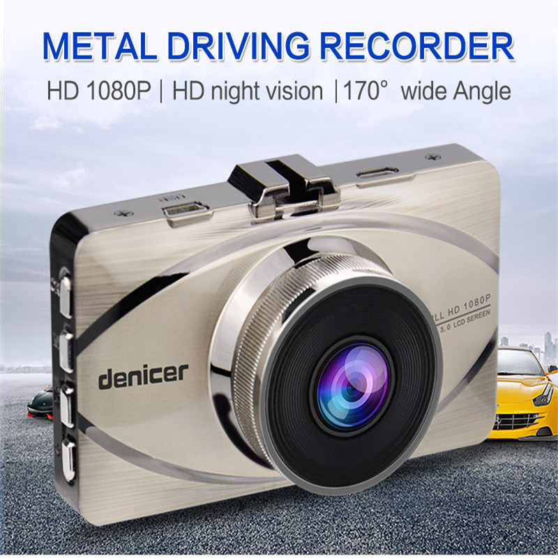 Auto GPS accessories Denicer Car DVR 170 Degree HD Wide Angle Camera Car FHD1920*1080P Video Recorder good quality p# dropship
