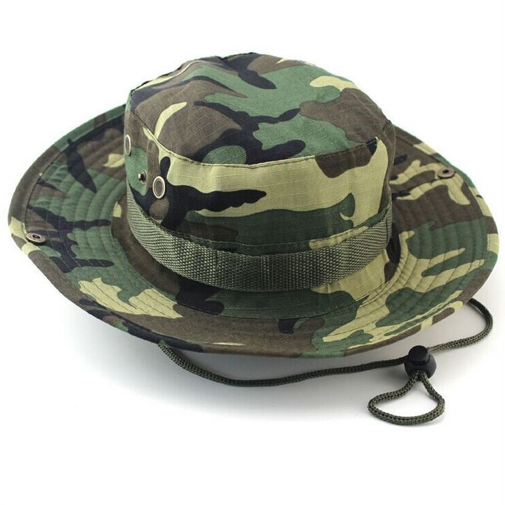 Classic US Combat Army Style Gi Boonie Bush Jungle Hat Sun Fishing Cap Men Women's Cotton Ripstop Camouflage Military Bucket Hat 2