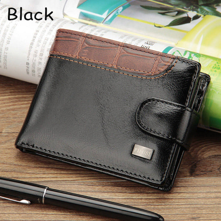 HTB1f58tXLLsK1Rjy0Fbq6xSEXXah - Baellerry Leather Vintage Men Wallets Coin Pocket Hasp Small Wallet Men Purse Card Holder Male Clutch Money Bag Carteira W066