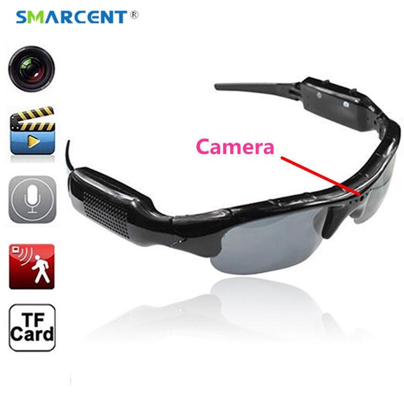 Smarcent esporte óculos com uma câmera com som de áudio bicicleta micro cam gravação de vídeo mini câmera camara secreta