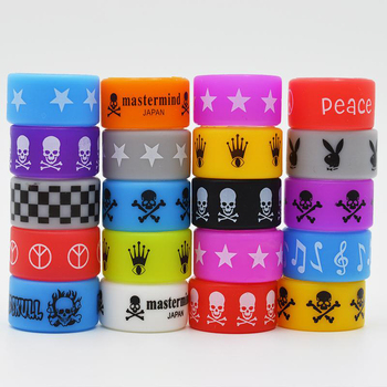 50PCS Silicone Band Rubber Rings Punisher Superman Skull Vape for Electronic Cigarette Mechanical Mod RDA RTA RBA Sub Tank