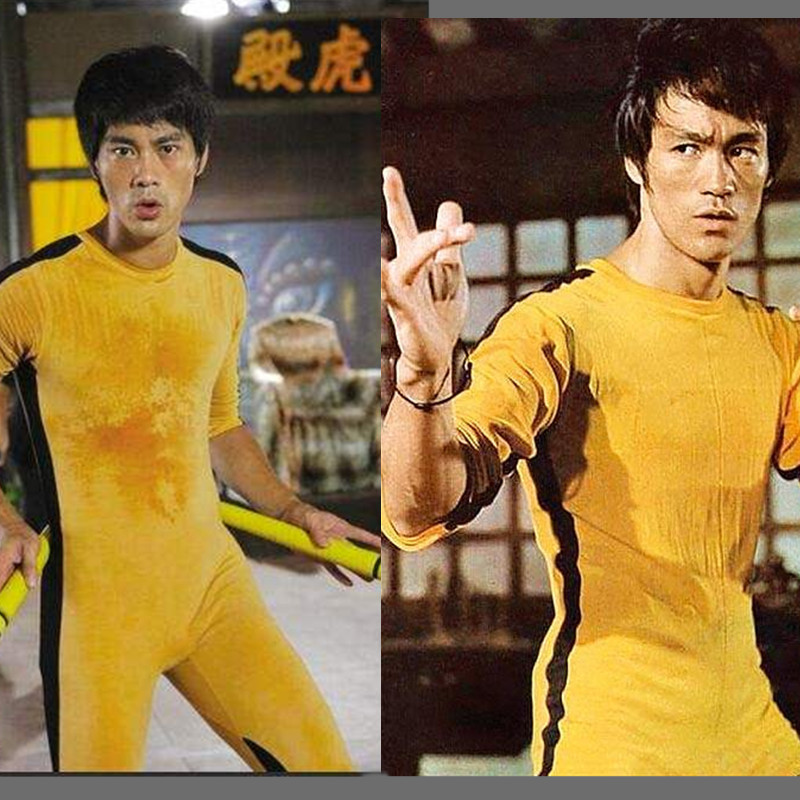 Bruce Lee Rompers For Kid Adults Yellow Wushu Uniforms Kung Fu Set Wu Shu Clothing Chinese Costume For Men Martial Arts Sets