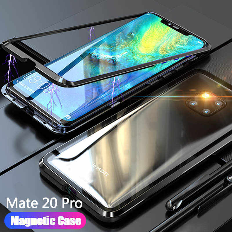 20X Case For Huawei Mate 20 Pro Lite X Mate20 Magnetic Glass Phone Case For Huawei mate20pro 20lite 20X Cover Shell Accessories