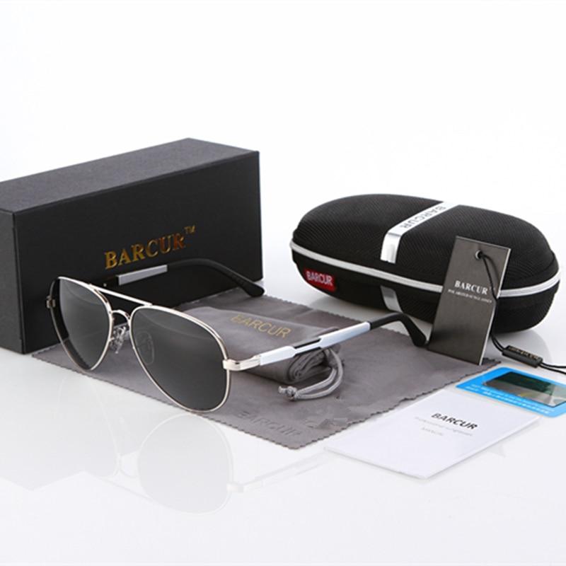 BARCUR Aluminio Magnesio Gafas de sol polarizadas Hombres Espejo de - Accesorios para la ropa - foto 4