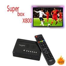 6 шт. ТВ Box 1080 P супер поле X800 DVB-S2 спутниковый ресивер Full HD Поддержка резких перемен температуры 5 Клайн Set Top ТВ коробка
