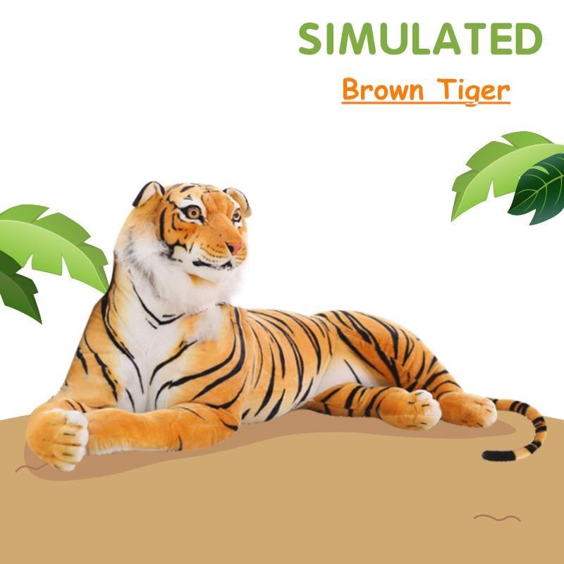 Simulation Animals Plush Toy Large Stuffed Animal Tiger Sika Deer