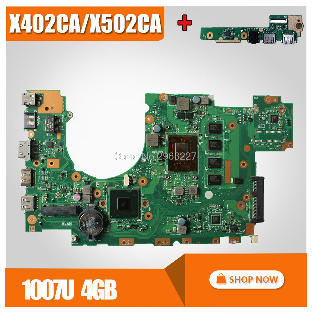 send board + X402CA Motherboard 1007u 4G Memory For ASUS X502CA X402CA Laptop motherboard X402CA Mainboard X402CA Motherboard цена