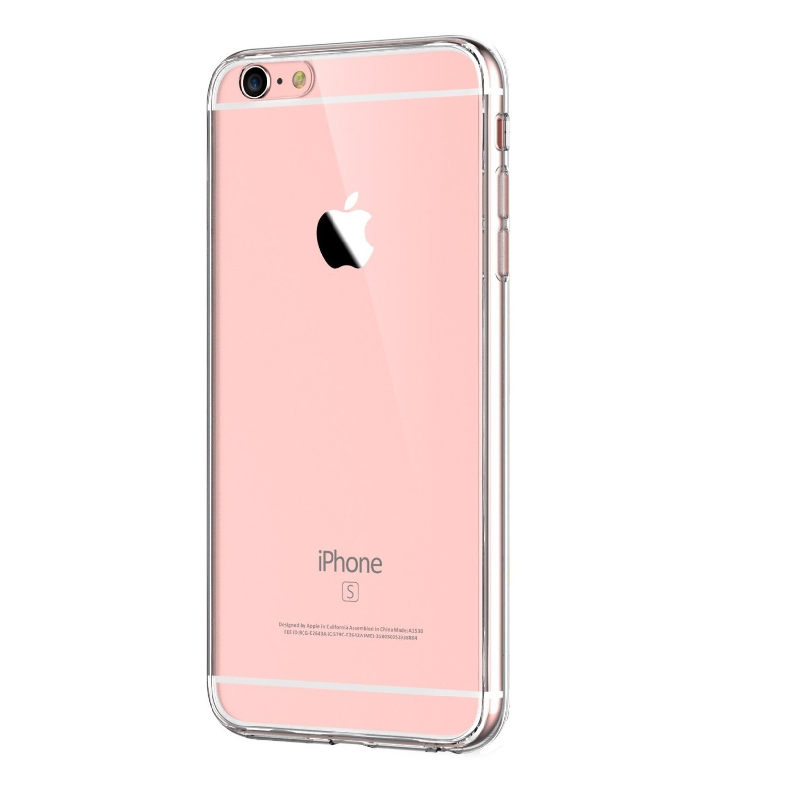 Funda de gel TPU carcasa protectora silicona para Apple Iphone 6 Transparente