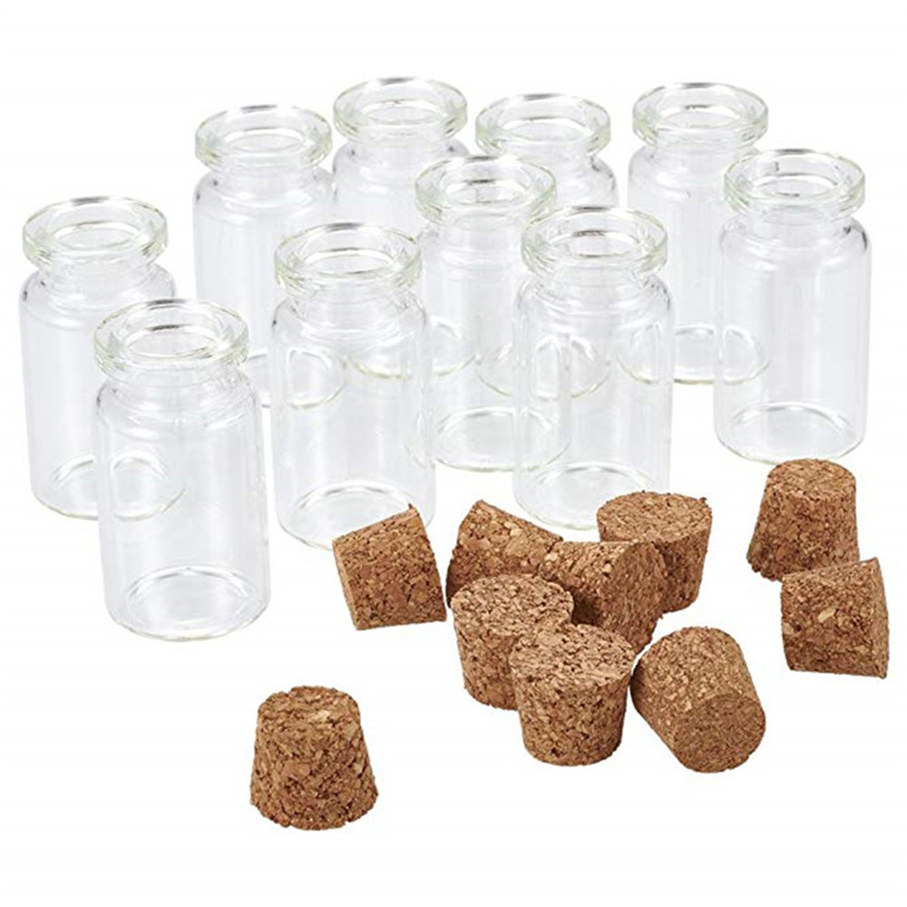 Mini Creative Clear Glass Jar Wishing Bottles Vials With Cork, Bead Jewelry Containers Making Tampion Gifts Size 40x22mm F60