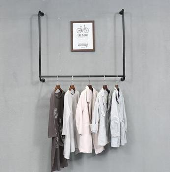Tie yi clothing rack clothes rack display rack wall hanging wall women's wear wedding dress shop shelf hanging clothes rack.