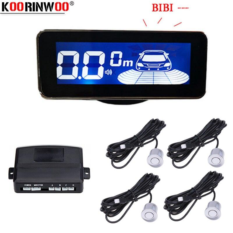 koorinwoo parkmaster display led sensor de estacionamento multicolorido retroiluminacao 4 sistema carro radar reverso parktronic sensores