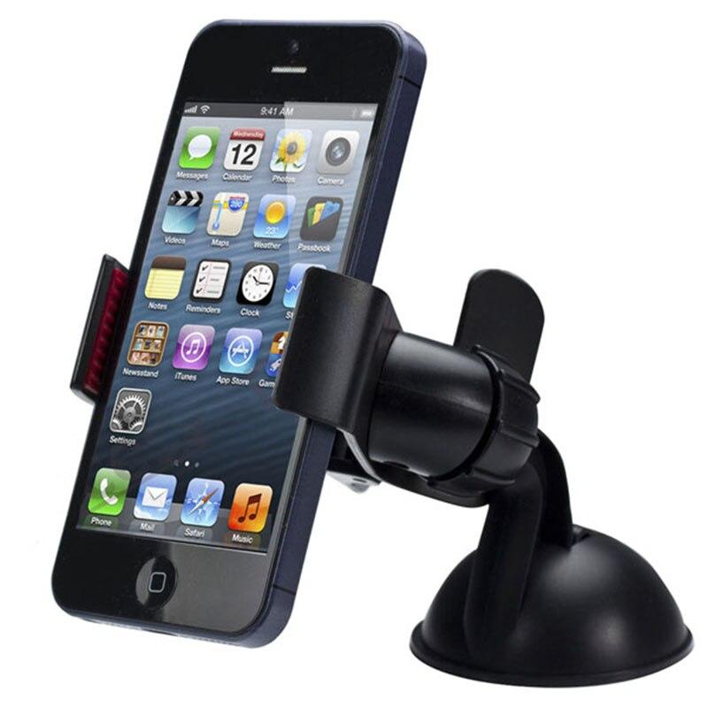 Universal Car Windshield Mount Holder For iPhone 6 6S 5S 5C 5G 4S For iPod GPS For Samsung Black держатель для мобильных телефонов new 360 samsung s3 s4 6 5s 5c 5 4s 4 psp mp4 gps iphone car air vent mount