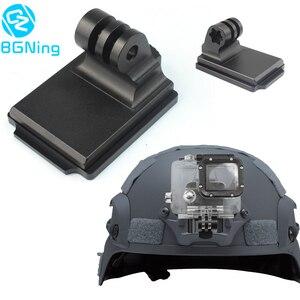 Image 1 - Adaptador de suporte nvg para capacete, suporte de alumínio para gopro hero 8 7 4 5 6 session yi sjcam eken câmeras esportivas de ação