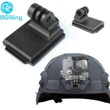 Aluminiowy kask stały uchwyt NVG podstawa Adapter do GOPRO Hero 8 7 4 5 6 sesja yi Sjcam EKEN akcja wideo kamery sportowe