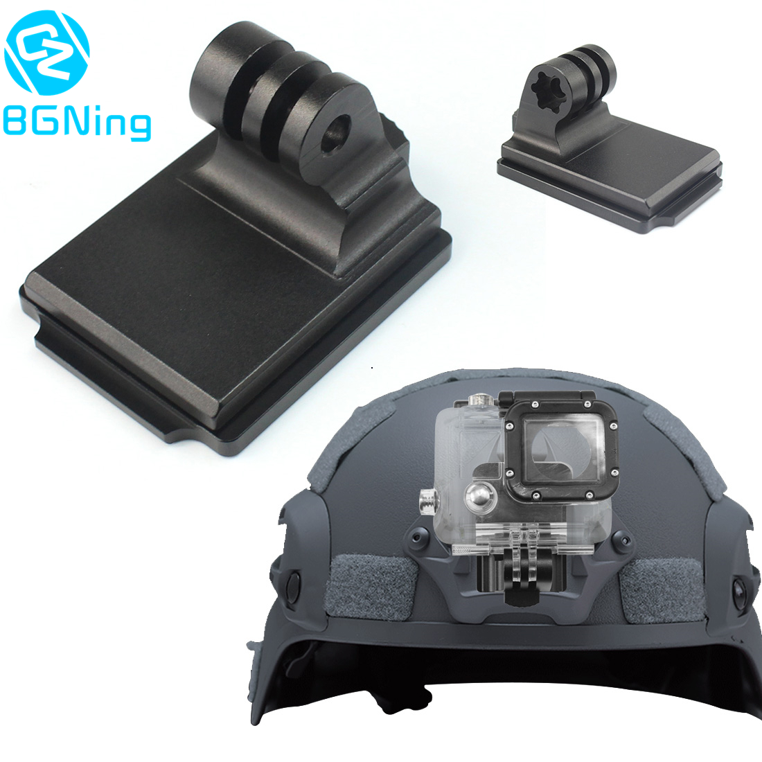 Aluminum Helmet Fixed Mount NVG Base Holder Adapter For GOPRO Hero 8 7 4 5 6 Session Yi Sjcam EKEN Action Video Sports Cameras
