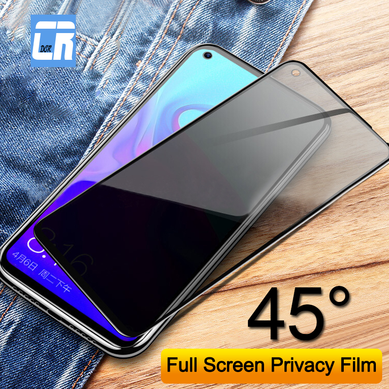 Anti-Spy Tempered Glass Screen Protector For Huawei Nova 4 3i 3E 2i 5t 6 Y9 2019 Privacy Glass For Huawei Honor 10 9 8C 8X Film