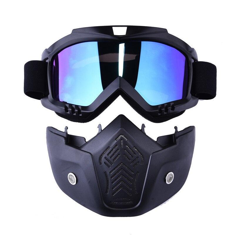 Al aire libre Motocross gafas de sol con boca filtro hombre Ski Snowboard invierno máscara esquí de motos de nieve Goggles gafas de esquí a prueba de viento