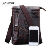 Hot Crocodile Genuine Leather Men Bag Designer High Quality Shoulder Bag Men Messenger Bags Vintage Zipper