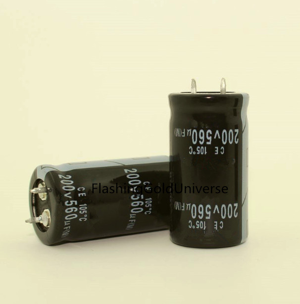 200v 560uf Electrolytic Capacitor 560uf 200v  22*40,free Shipping Best Quality