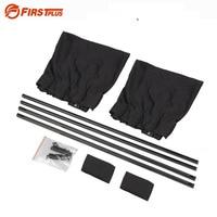 50S Aluminum Shrinkable Windowshade Curtain For Auto Car Side Windows Black