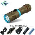 100 М подводный Фонарик Diver Подводное фонарики LED CREE XM-L2 фонарик Лампы 3200 люмен 18650 или 26650