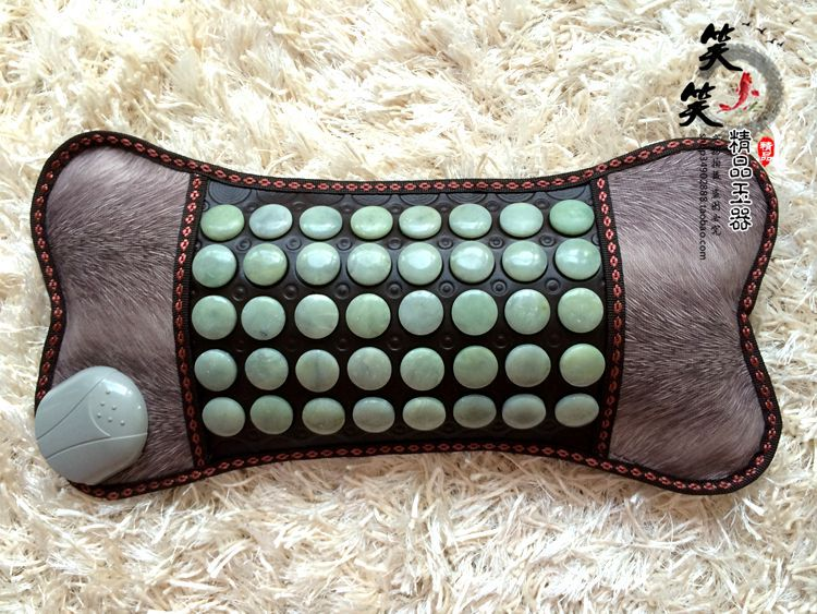 где купить Free Shipping! Natural Tourmaline Cushion Jade Heat Cushion Physical Therapy Health Care Pillow Jade Yoga Pad AC220 For Sale дешево