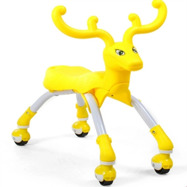Small Children Four Round Car Elk Deer Cars Toy Yo Twist Scooter For Children Ride On Animal Toys TD0071