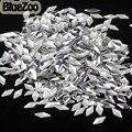 BlueZoo Novo 1000 unidades/pacote Rhombus Forma Prego de Prata Decoração Metal Para DIY Dicas de Decoração