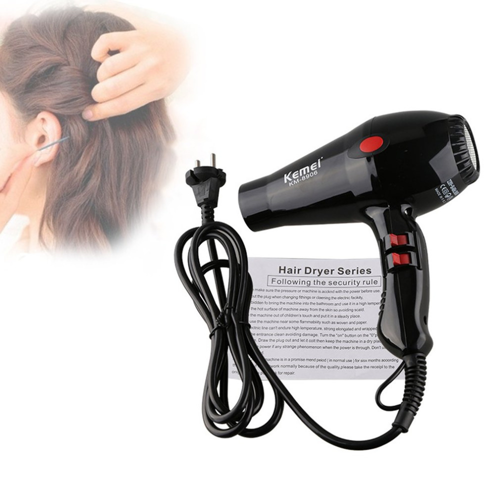 Professional Hot cold Anion Hair Dryer Hair Salon 1900W 220V Household High-power ABS Portable Electric Blower EU Plug KM-8906 professional hot cold anion hair dryer hair salon 1900w 220v household high power abs portable electric blower eu plug km 8906