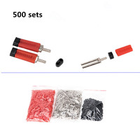 500 sets laboratorio dental uso doble Twin Pasadores con plástico utilizado fácilmente con Pasadores Dex máquina longitud 21mm