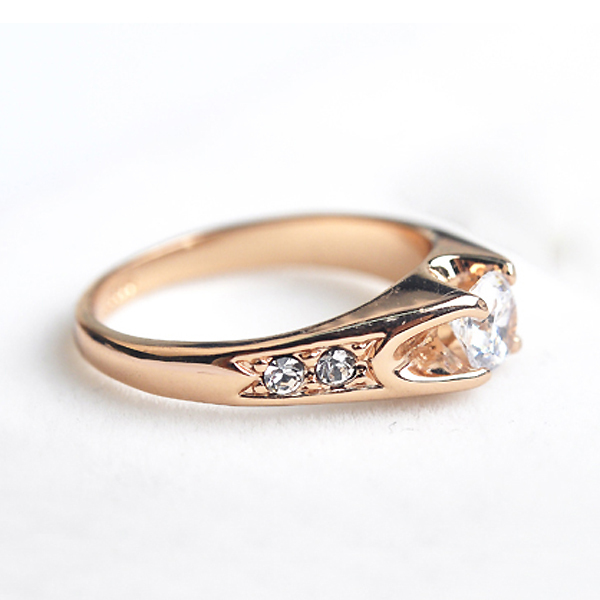 Top quality Austria Crystals wedding Rings for women Rose Gold color Engagement Rings Female Anel Bijoux Party Christmas Gifts